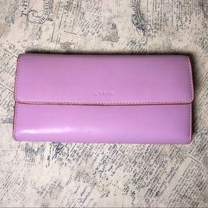 Lodis leather violet/brown wallet
